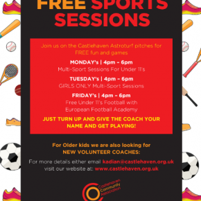 Free Sports Sessions for under 11's