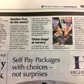 Littlehaven Nursery secures coverage in Camden New Journal