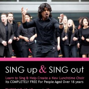 SING up & SING out - New Lunchtime Choir Starts Next Week!