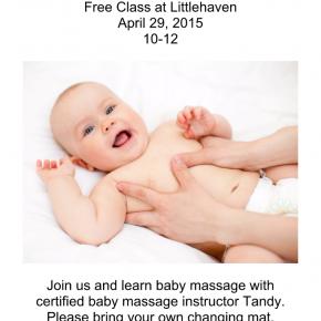 Baby Massage at Littlehaven under 5's