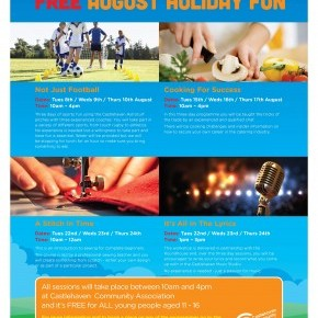 Spaces still available on our August Holiday Programme