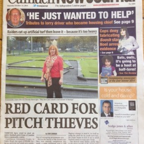 Red Card For Pitch Thieves - Front Page News