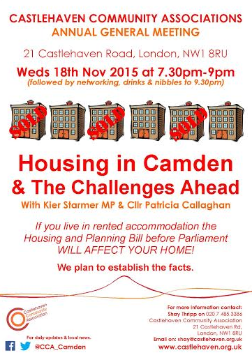 Housing In Camden – The Challenges Ahead - CCA AGM