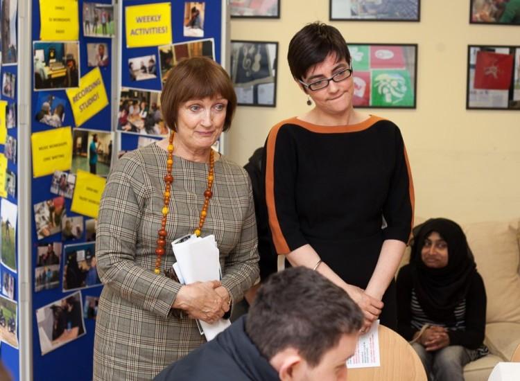 Visit by Dame Tessa Jowell MP & Sarah Hayward Leader of Camden Council