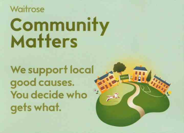 Big Thanks to Waitrose who've raised money for us!